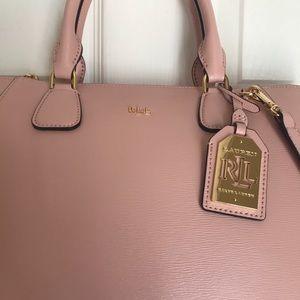 Lauren Ralph Lauren Bags - Ralph Lauren Pink Pastel Lowell Stefanie Satchel 279cf45e88